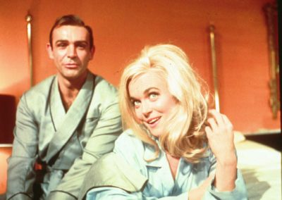 Shirley Eaton and Connery